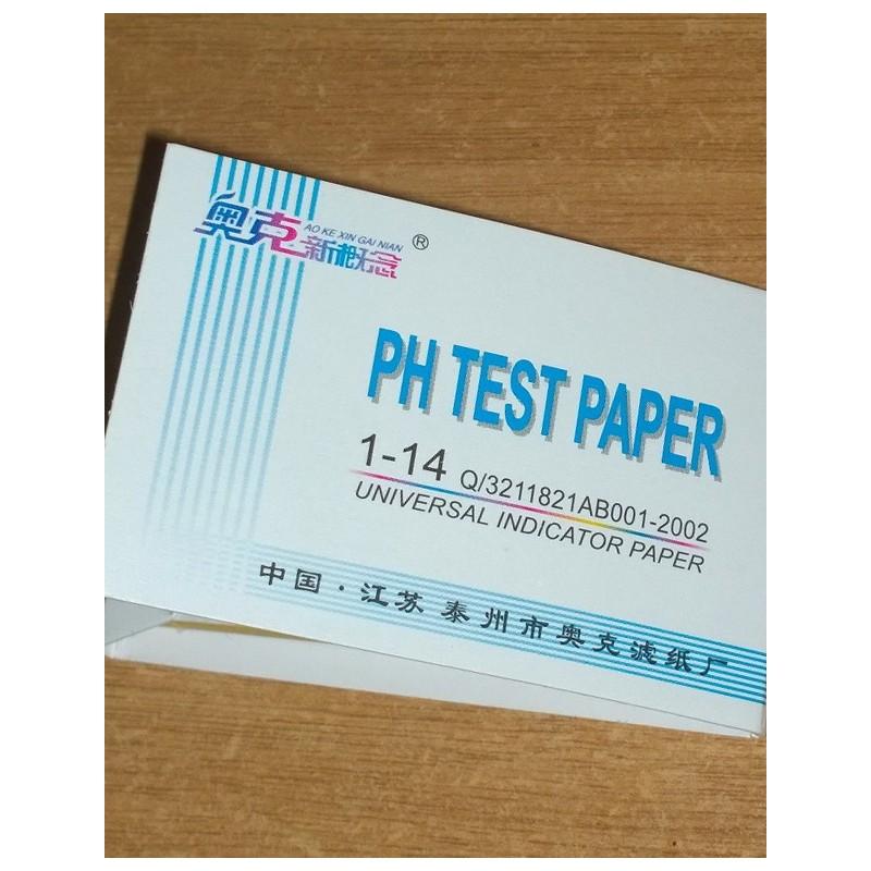 80 Tiras de papel medidor de PH.
