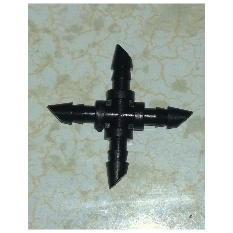 Conector X 4 mm Microriego